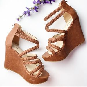 Torrid Brown Sandals Wedges Size 10.5 W